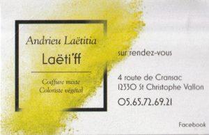 36 LOGO LAETIFF Coiffure ST CHRISTOPHE